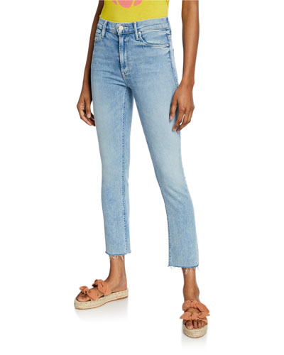 The Mid-Rise Dazzler Ankle Fray Jeans