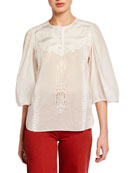 Coach Lacey Butterfly Applique Top