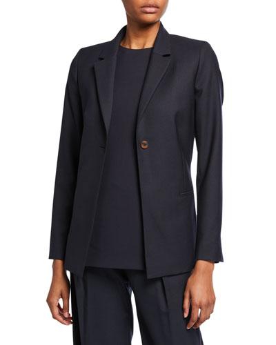 Bow-Back Tailored Jacket