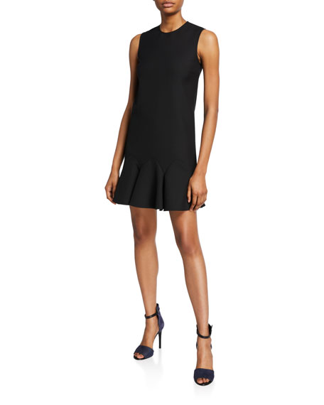 Victoria Victoria Beckham Sleeveless Flounce-Hem Shift Dress