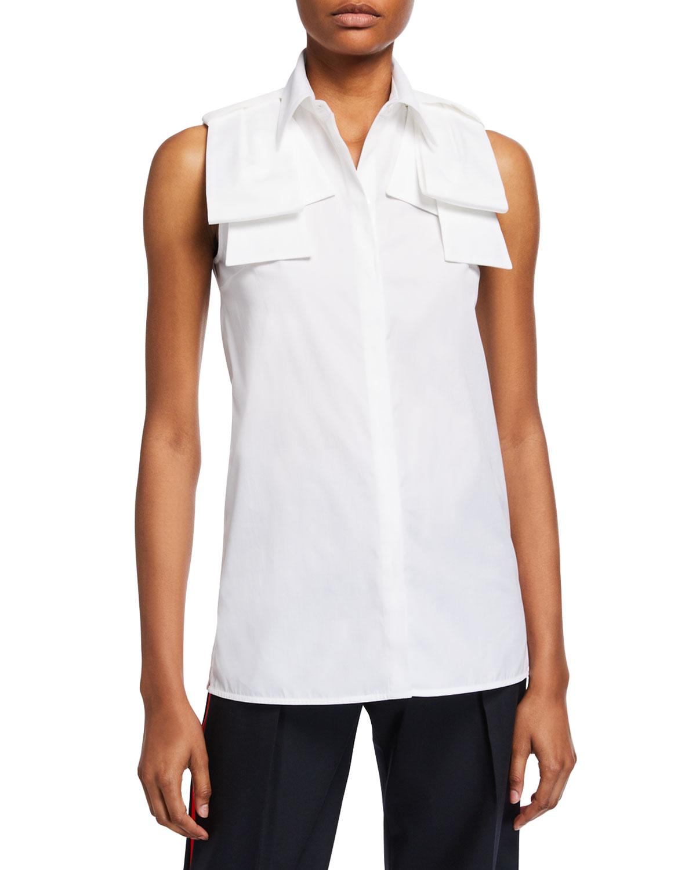 Victoria Victoria Beckham T-shirts SLEEVELESS EPAULETTE SHIRT