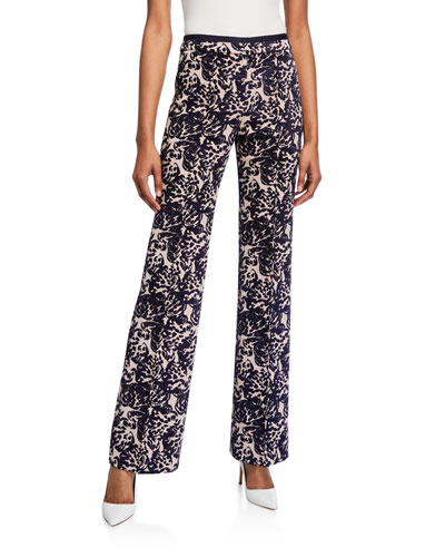 Tapestry Flared Trousers