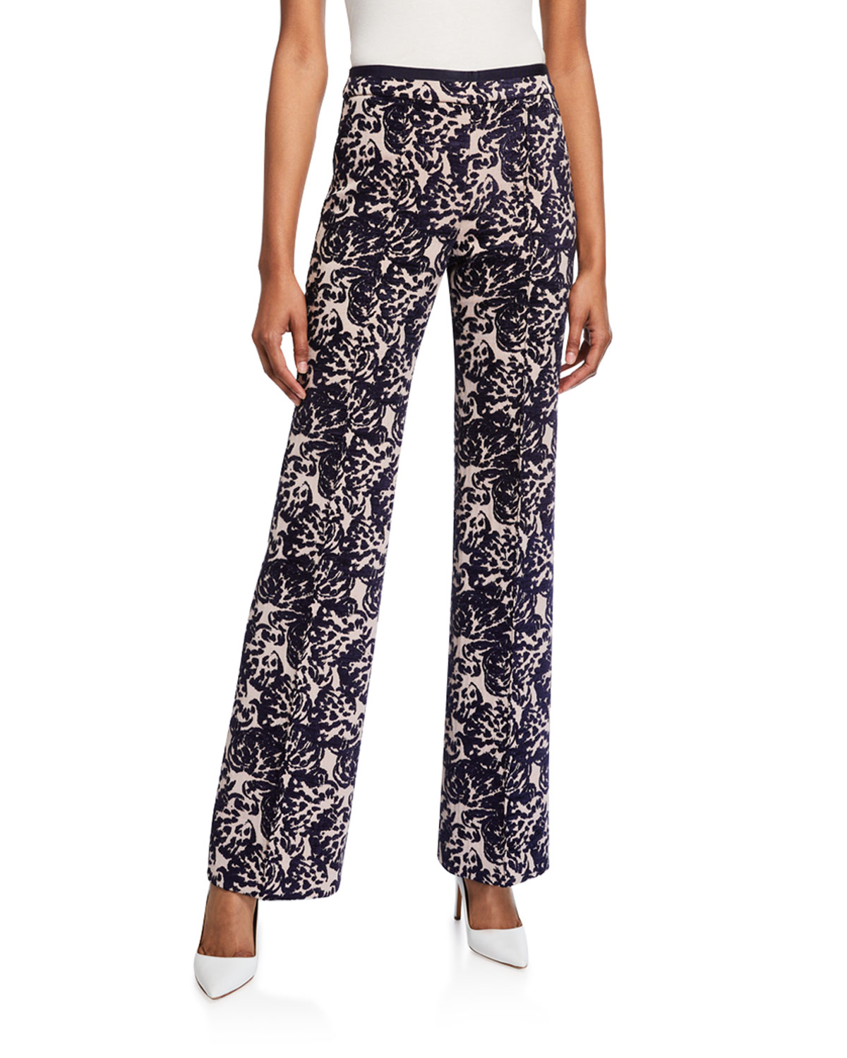 Victoria Victoria Beckham Pants TAPESTRY FLARED TROUSERS