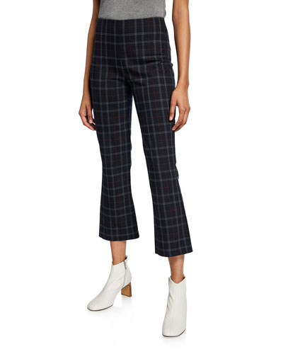 Marie Check Flare Pants