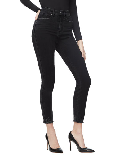 Good Curve Skinny Jeans w/ Chewed Hem - Inclusive Sizing