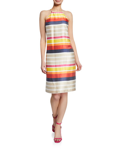 Vanah Striped Halter Dress