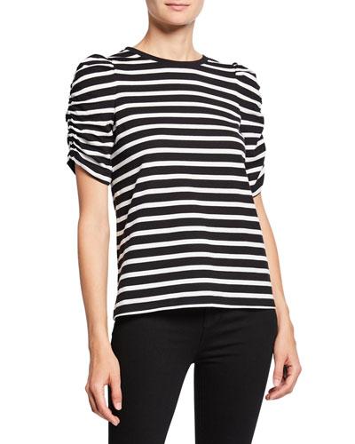 sailing stripe cotton tee