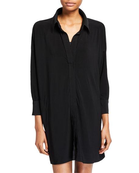 Norma Kamali Boxy Coverup Beach Shirt