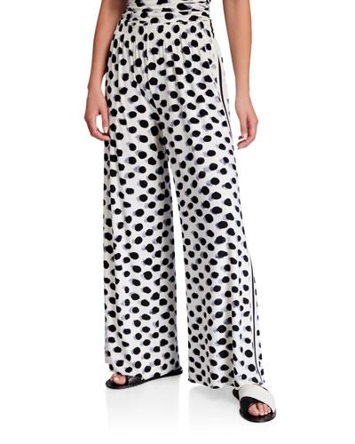 Stripe Wide Leg Pants | Neiman Marcus