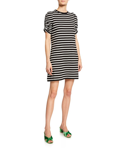 16bd7e54ae20 Quick Look. kate spade new york · sailing striped short-sleeve dress.  Available in Black Pattern