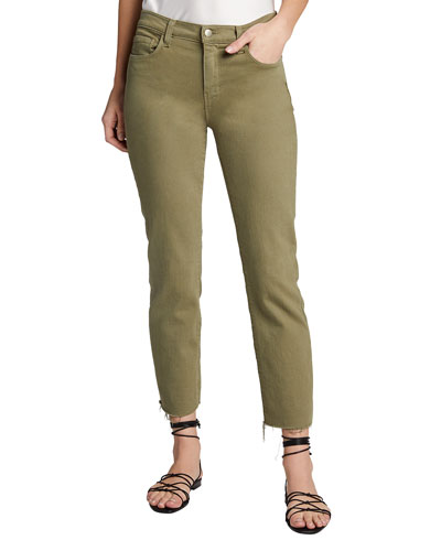 Sada Slim Straight-Leg Cropped Jeans