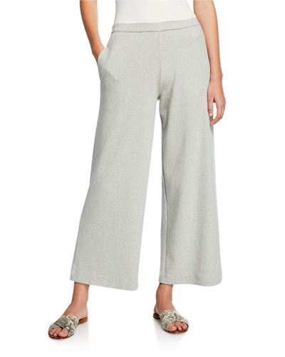 Petite Wide-Leg Crop Pants with Pockets