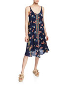 Johnny Was Taleah Floral Scoop-Neck Sleeveless Georgette Dress