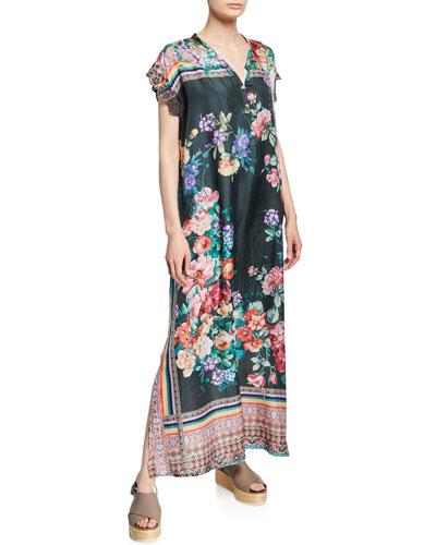V Neck Silk Dress Neiman Marcus