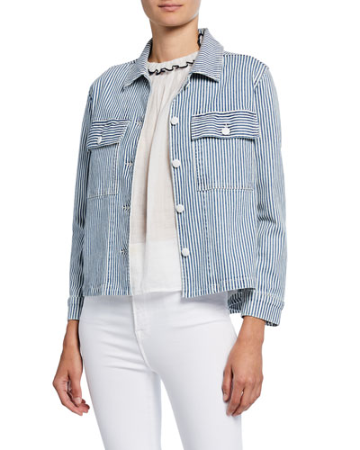 Engineer Striped Shirt Jacket