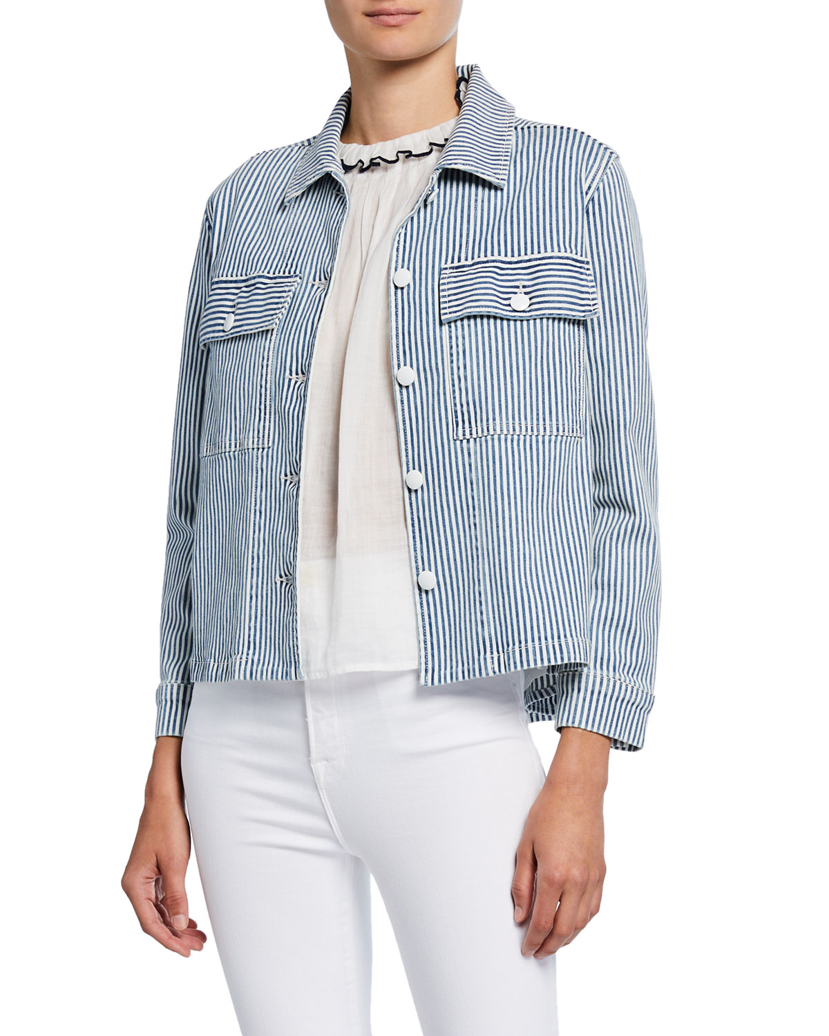 Frame Jackets ENGINEER STRIPED SHIRT JACKET