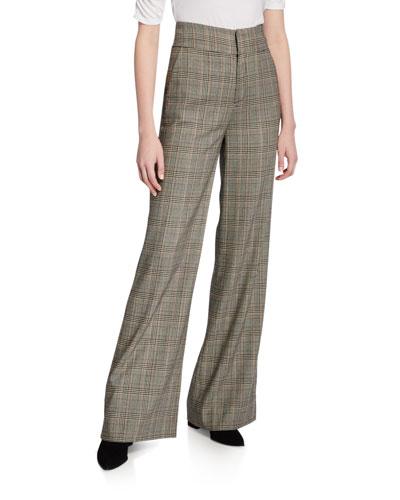 Metropolitan High-Rise Check Pants