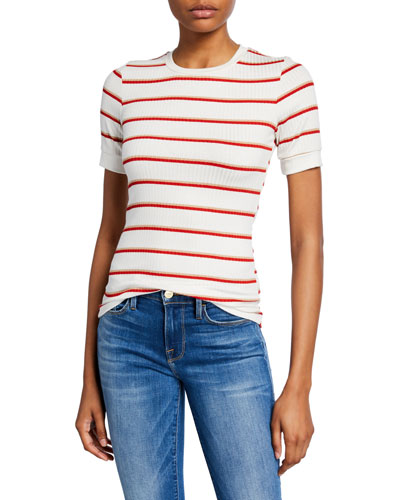 Variegated Striped 70s Tee