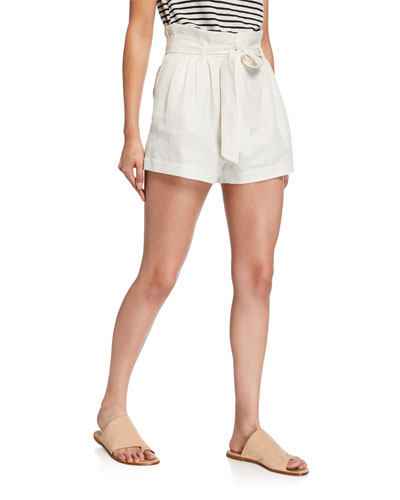 High-Rise Tie-Up Shorts