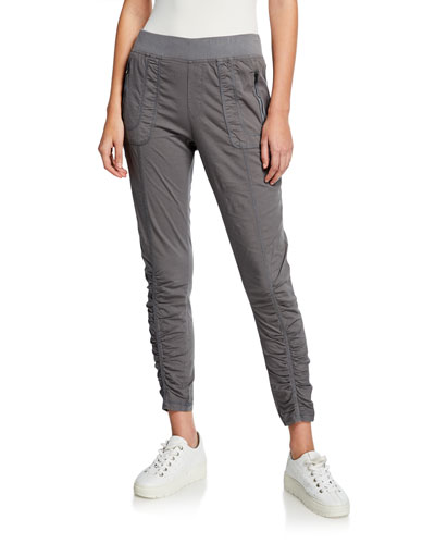 Grassroots Rouched Crop Pull-On Pants