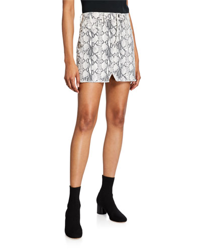 Le Mini Skirt with Split Front