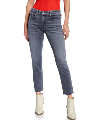 Dre Low-Rise Slim Ankle Boyfriend Jeans
