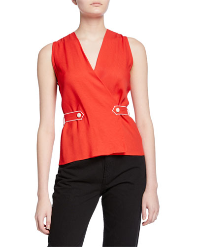 Tabitha Sleeveless Wrap Top