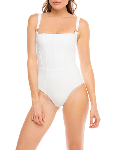 Hunter Square-Neck One-Piece Swimsuit