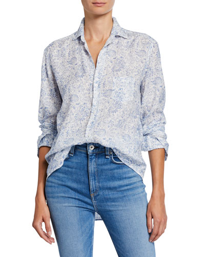 Eileen Floral Long-Sleeve Button-Down Shirt