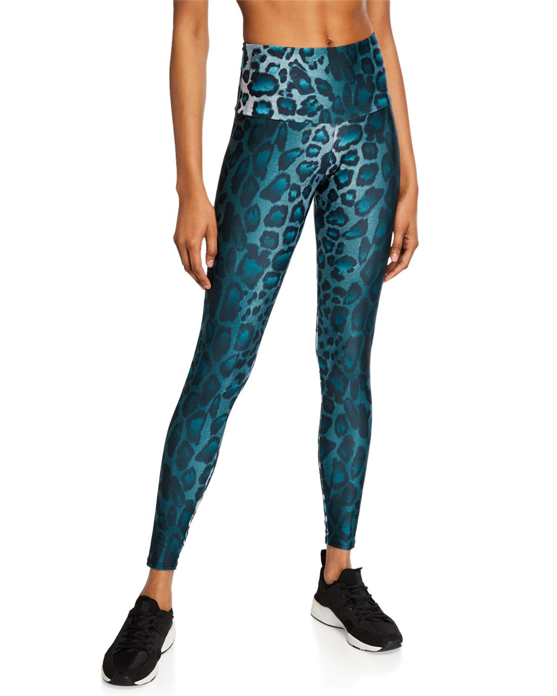 High-Rise Leopard-Print Leggings