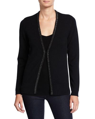 090b80b367c Black Long Sleeves Cashmere Cardigan | Neiman Marcus