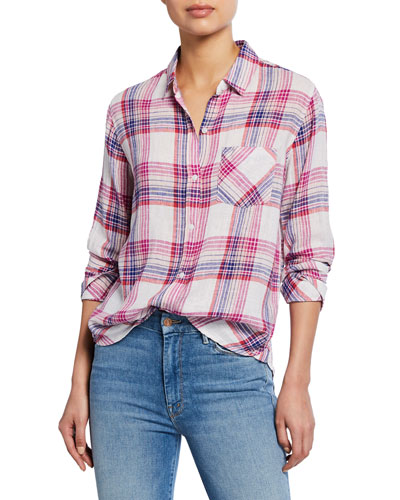 Charli Plaid Button-Down Shirt