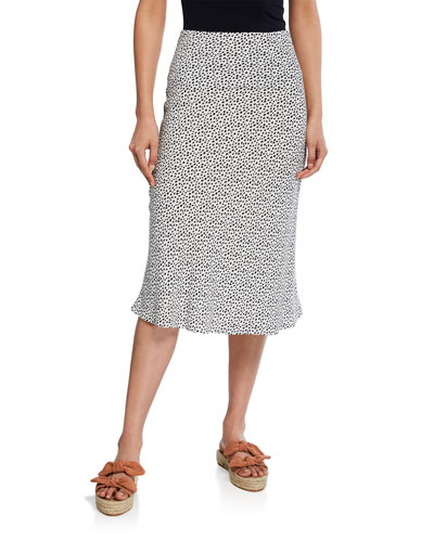London Dotted Midi Skirt