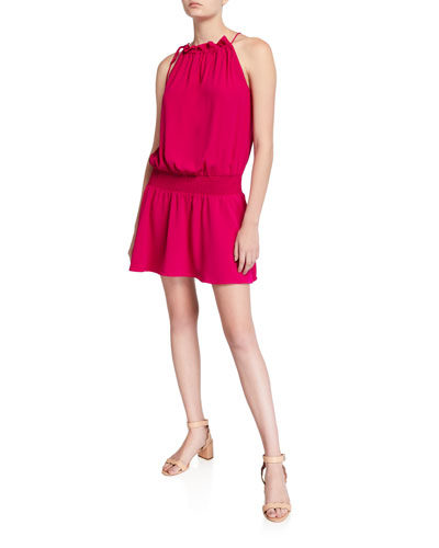 Emlyn Sleeveless Tie-Neck Short Dress