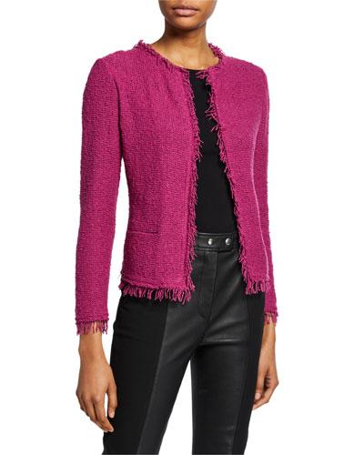 Shavanispe Textured Fringe Jacket