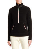 Moncler Mock Sweater w/ Zippers