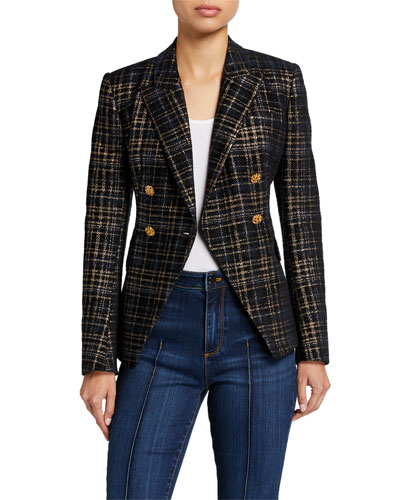 Jezebel Plaid Double-Breasted Jacket