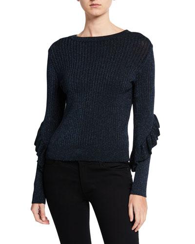 Hope Ruffle Long-Sleeve Sweater