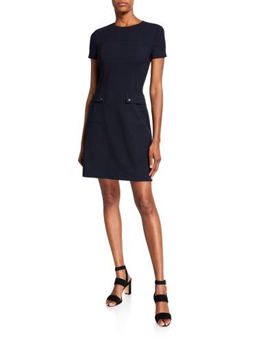 Jaelyn Short-Sleeve Dress with Pockets