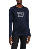 Bella Freud Dark Sky Metallic Crewneck Sweater