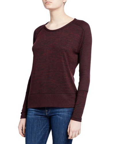 Ramona Long-Sleeve Scoop-Neck Tee