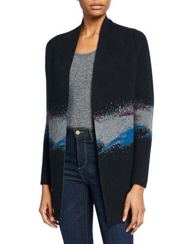 5f020b3f343 Striped Open Front Cardigan | Neiman Marcus
