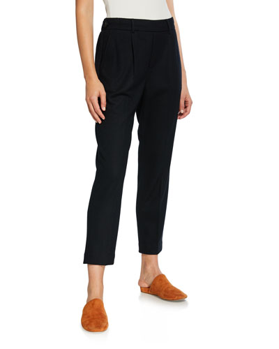 Cozy Pull-On Cropped Pants