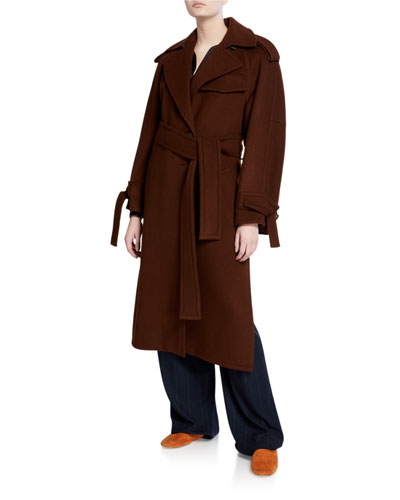 Belted Wool Trench Coat