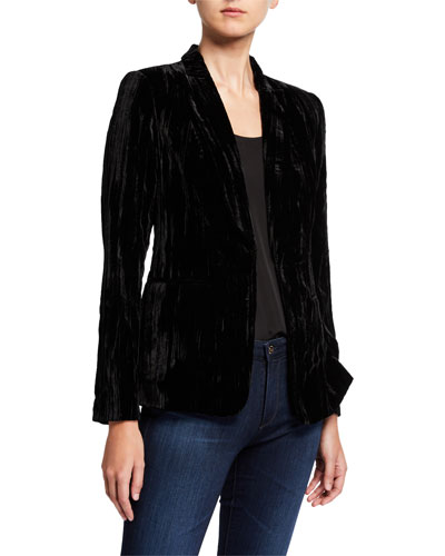 Gemini Velvet One-Button Jacket
