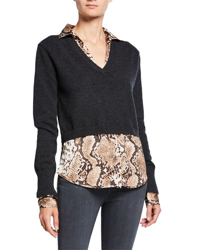 ba6e6d69 Charcoal Imported Cashmere Sweater | Neiman Marcus
