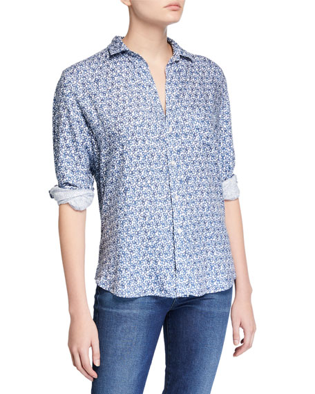 Frank & Eileen Eileen Floral Button-Down Long-Sleeve Modal Shirt