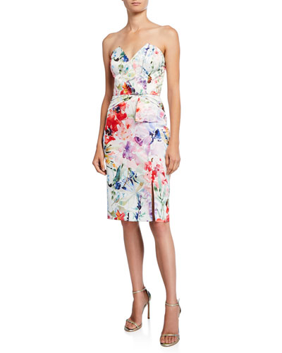806476e6a3b Quick Look. Parker · Posey Floral Strapless Cocktail Dress
