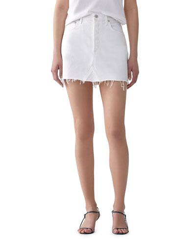 a1d9cc1d0d Quick Look. AGOLDE · Oyster Quinn High-Rise Denim Mini Skirt