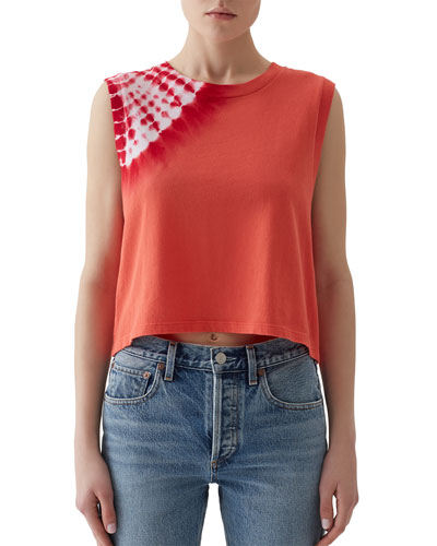 Sunburst Cropped Muscle Tee